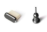 Комплект заглушек в разъем для наушников 3,5 мм и Type С для Android, MacBook. Gray (темно-серый)
