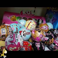 Кукла Lol лол сестричка-ассорти видов  розовая, фиолетовая, белая золотая серия, красная, шар 7,5 см