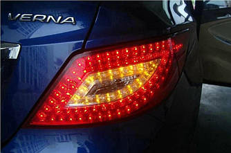 Фонари Hyundai Accent RB тюнинг led оптика
