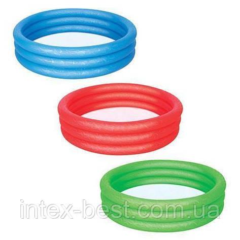 Детский бассейн Bestway 3 кольца (51025) 122-25 см ( зеленый), фото 2
