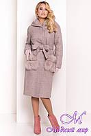 Зимнее женское пальто с капюшоном (р. S, М, L) арт. Анита 4120 - 38129