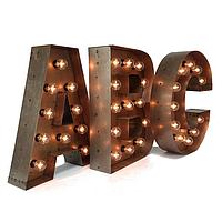 Буквы из металла для рекламы - Изготовление - Доставка - Установка | Металлические рекламные светящиеся буквы
