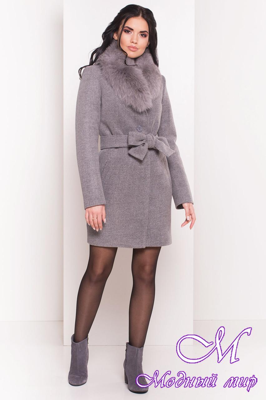 Красивое зимнее пальто с мехом (р. S, М, L) арт. Габриэлла 5763 - 38123