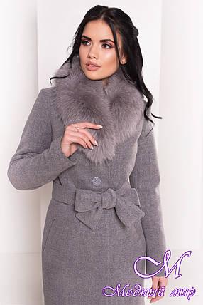 Красивое зимнее пальто с мехом (р. S, М, L) арт. Габриэлла 5763 - 38123, фото 2