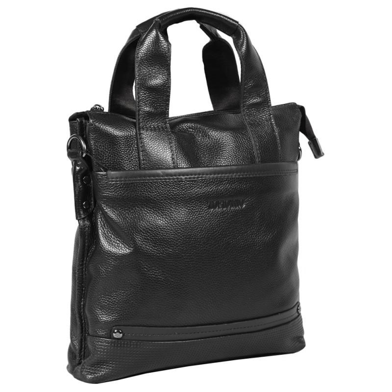 fc563e5b28ab Мужская кожаная сумка формата А4 вертикального типа Tofionno TF007715-211b  черная - АксМаркет в Киеве