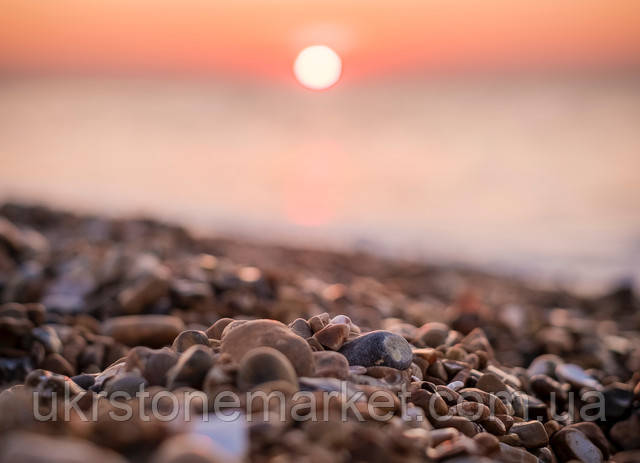 Галька пляж подільський камінь
