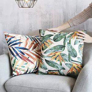 Декоративные подушки с мешковины