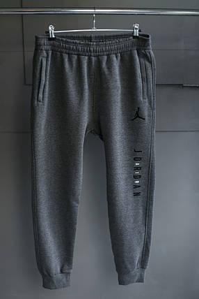 Мужские зимние штаны jordan Тёмно серые, фото 2