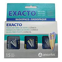 Стекловолоконные штифты, Exacto Kit, уп 15 шт + 3 бора