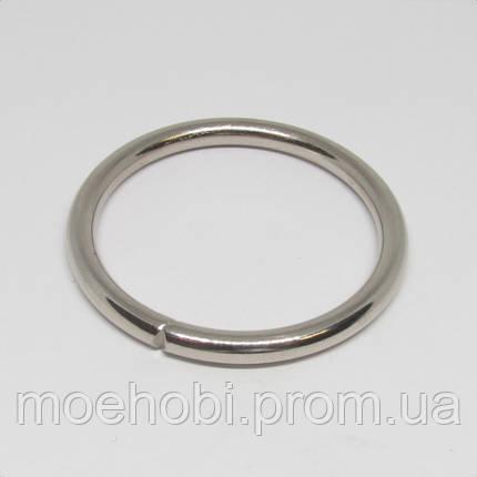 Кольца для сумок (36мм) никель,  4335, фото 2