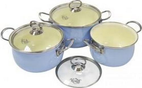 Набір емальованого посуду 6 предметів Krauff 26-224-023
