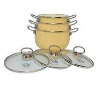 Набір емальованого посуду 6 предметів Krauff 26-224-024