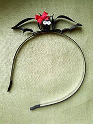 Обруч летучая мышь из лент (ассорти)