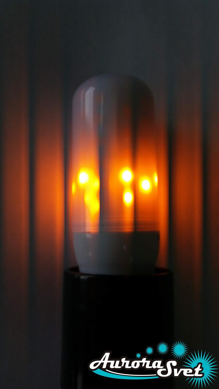 Светодиодная лампа М7873W 50LM, 100-265V, цоколь Е27 Имитация ПЛАМЯ!