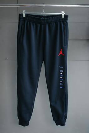Мужские зимние штаны jordan Тёмно синие, фото 2