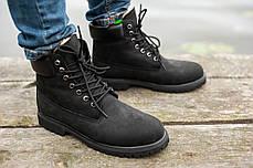 """Зимние ботинки на меху Timberland 6-inch Premium """"Черные"""", фото 2"""