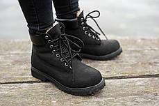"""Зимние ботинки на меху Timberland 6-inch Premium """"Черные"""", фото 3"""