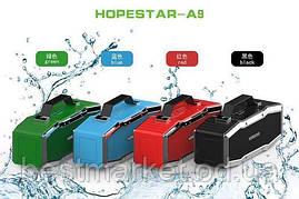 Портативна вологозахищена стерео колонка Hopestar A9 (Bluetooth, MP3, AUX, Mic)