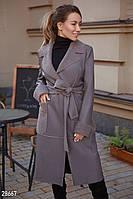 Длинное дубленое пальто-3 цвета S M L, фото 1