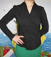 Блуза женская в деловом стиле коттон стрейч