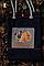 Эко-сумка, дизайнерская, ручной принт, Джинс, льон, коттон, фото 2