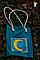 Эко-сумка, дизайнерская, ручной принт, Джинс, льон, коттон, фото 5