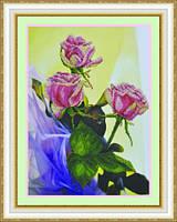 """Набор для вышивания бисером """"Розовый букет""""  Р-058"""