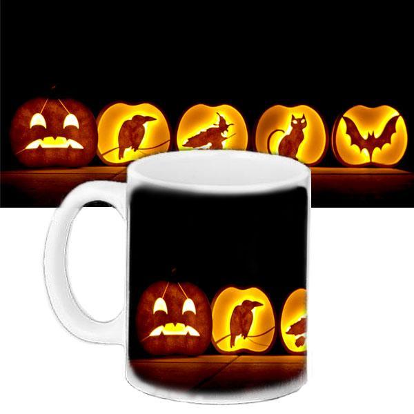 Чашка подарок с рисунком Halloween Силуэты
