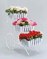 Подставка для цветов Тачка 3 Кантри., фото 1