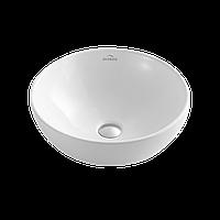 Раковина круглая накладная INVENA Dokos 40 см, белый глянцевый