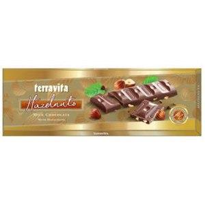 Шоколад Terravita молочный с лесным орехом 225г