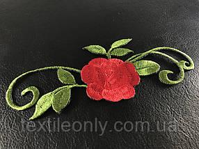 Нашивка Троянда с ветками 150х60 мм