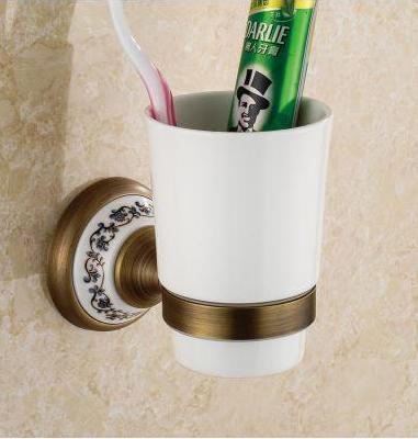 Стакан для зубных щеток настенный 6-099