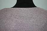 Платье большого размера трикотажное серо-розовое с отрезным низом, Турция, фото 10