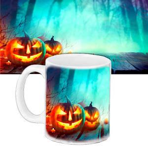 Чашка с принтом Halloween Дорога Ужасов