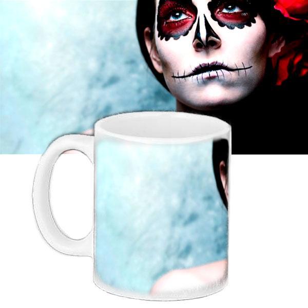 Чашка з принтом Halloween Макіяж