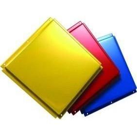 Фасадная панель с полимерным покрытием 0,5 мм желтая