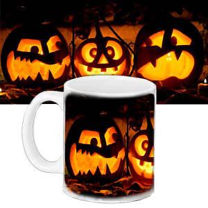 Чашка с принтом Halloween Party Шабаш Тыкв