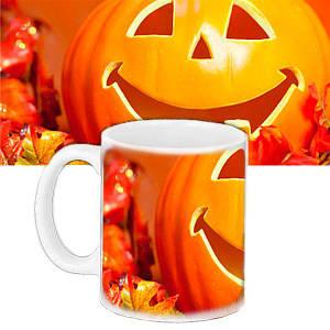 Кухоль в подарунок з малюнком Halloween Весела Гарбуз