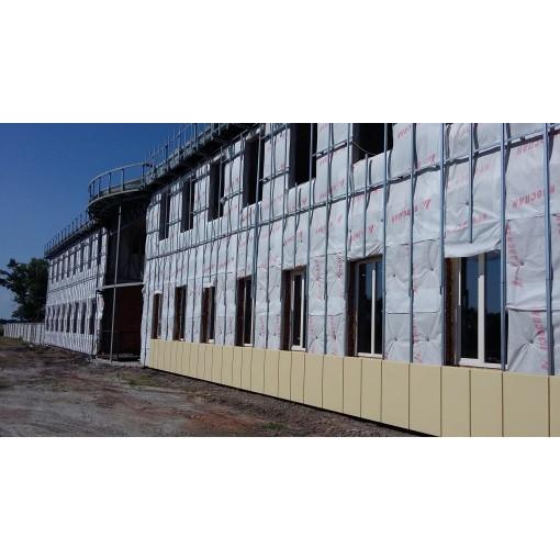 Монтаж навесного вентилируемого фасада с подсистемой