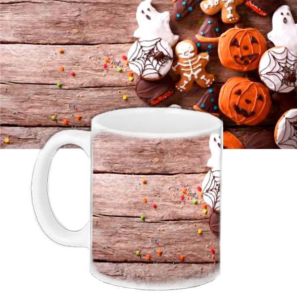 Чашка с принтом Halloween Страшные Вкусняшки