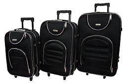 Набор дорожных чемоданов на колесах Siker Lux набор 3 штуки Черный