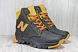 Зимові підліткові високі шкіряні черевики в стилі New Balance, фото 2
