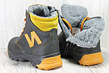 Зимові підліткові високі шкіряні черевики в стилі New Balance, фото 3