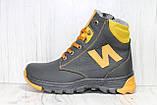 Зимові підліткові високі шкіряні черевики в стилі New Balance, фото 4