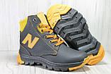 Зимові підліткові високі шкіряні черевики в стилі New Balance, фото 5