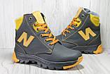 Зимові підліткові високі шкіряні черевики в стилі New Balance, фото 6