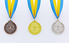 Медаль спортивная Штанга d-5см
