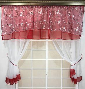 """Кухонные шторы """"Валюша"""" , Алая, фото 2"""