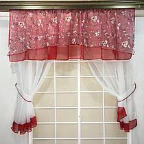 """Кухонные шторы """"Валюша"""" , Алая, фото 3"""